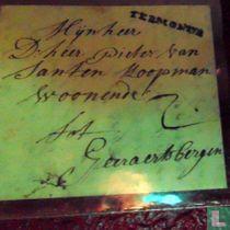 Brief van Termonde (Dendermonde) naar Geraardsbergen