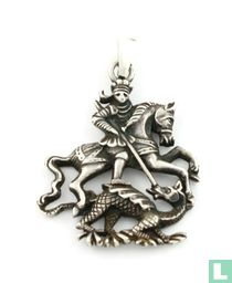 Zilveren Hanger, Paard Met Man