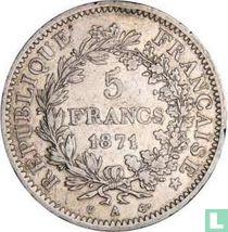 France 5 francs 1871 (A - trident)