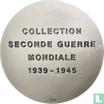 France, WW2 Commemorative (3 Shields)  Collection Seconde Guerre Mondiale  La bataille pour l'Afrique  1939-1945