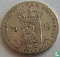 Netherlands ½ guilder 1822