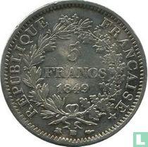 France 5 francs 1849 (Hercules - BB)