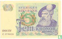 Schweden 5 Kronor 1966