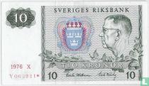 Schweden 10 Kronor 1976 (Replacement)