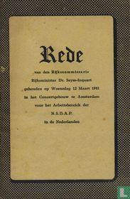 Rede van den Rijkscommissaris Rijksminister Dr. Seyss-Inquart