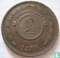 Paraguay 2 centésimos 1870