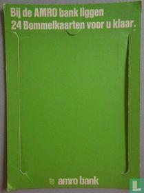 Bij de AMROBANK liggen 24 Bommelkaarten voor u klaar