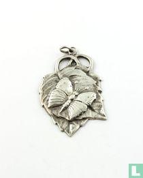 Zilveren Hanger, Met Vlinder