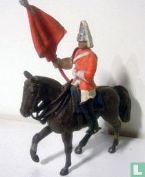 Standard bearer on horseback