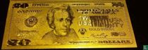 USA 20 dollar (Gold-layered) 1934