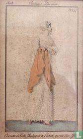 Cornette de tulle. Redingote de perkale, garnie d'un effilé (884)