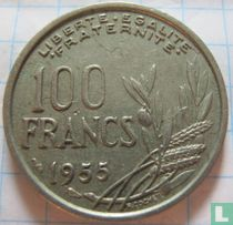 Frankrijk 100 francs 1955 (zonder B)