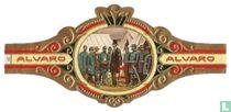 El presidente Lincoln entre sus generales