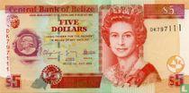 Belize 5 dollar 2009 UNC