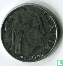 Italien 20 Centesimi 1939 (magnetisch - Kerben - XVII)