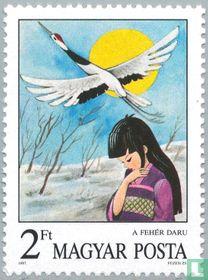 De witte kraanvogel