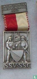 Switzerland  S.S.V. - S.S.C.  Shooting medal  1961
