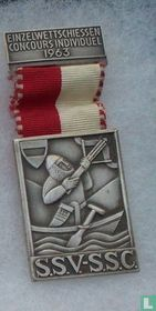 Switzerland  S.S.V. - S.S.C.  Shooting medal  1963