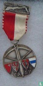 Switzerland  EA SV  Shooting medal  1957