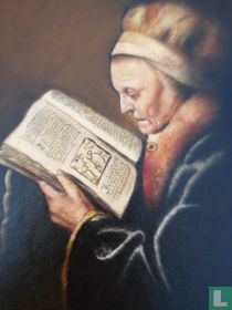 Repro - Portrait 'reading old woman'