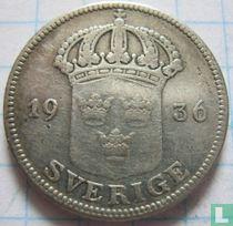 "Schweden 50 Öre 1936 ""lange 6"""