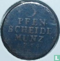 Pruisen 3 pfennig 1754