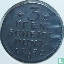 Pruisen 3 pfennig 1752