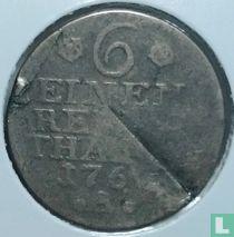 Pruisen 1/6 thaler 1766 (A)