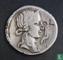 Romeinse Rijk, AR Denarius, 81 BC, gens Titia, Iberian mint