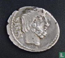 Romeinse Republiek, AR Denarius, 89 BC, gens Tituria, Rome