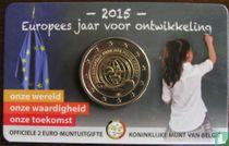 "Belgium 2 euro 2015 (coincard - NLD) ""European year for development"""