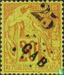 Type Dubois, with overprint
