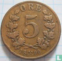 Norwegen 5 Øre 1899