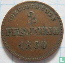 Beieren 2 pfenning 1860
