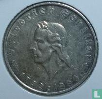 "Duitse Rijk 5 reichsmark 1934 ""175th Anniversary Friedrich Schiller"""