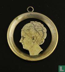 Zilveren Hanger Met Koningin Wilhelmina