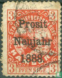 City Post Hamburg Hammonia Hamburg Hammonia, with overprint
