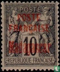 Peace and trade, with overprint