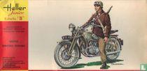Motocyclette militaire Française Cavalerie Gnome-Rhone AX2 1939-1945