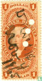 George Washington (algemene uitgave, oud papier) 1 $