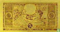 Belgie 100 francs 1943 Goud REPLICA met certificaat