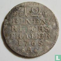 Pruisen 1/12 reichsthaler 1765 (A)