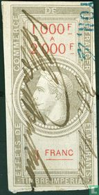 Douanes - Napoleon III (1F) (1000-2000)