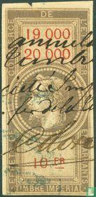 Douanes - Napoleon III (10F) (19000-20000)