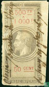 Douanes - Napoleon III (50 C) (500-1000)