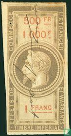 Douanes - Napoleon III (1F) (500-1000)