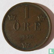 Zweden 1 öre 1877 (langere tekst)