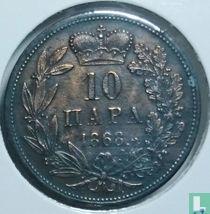 Servië 10 para 1868