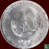 """DDR 20 mark 1974 """"250th anniversary Death of Immanuel Kant"""""""
