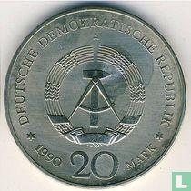 """DDR 20 mark 1990 (koper-nikkel) """"Opening of Brandenburg Gate"""""""